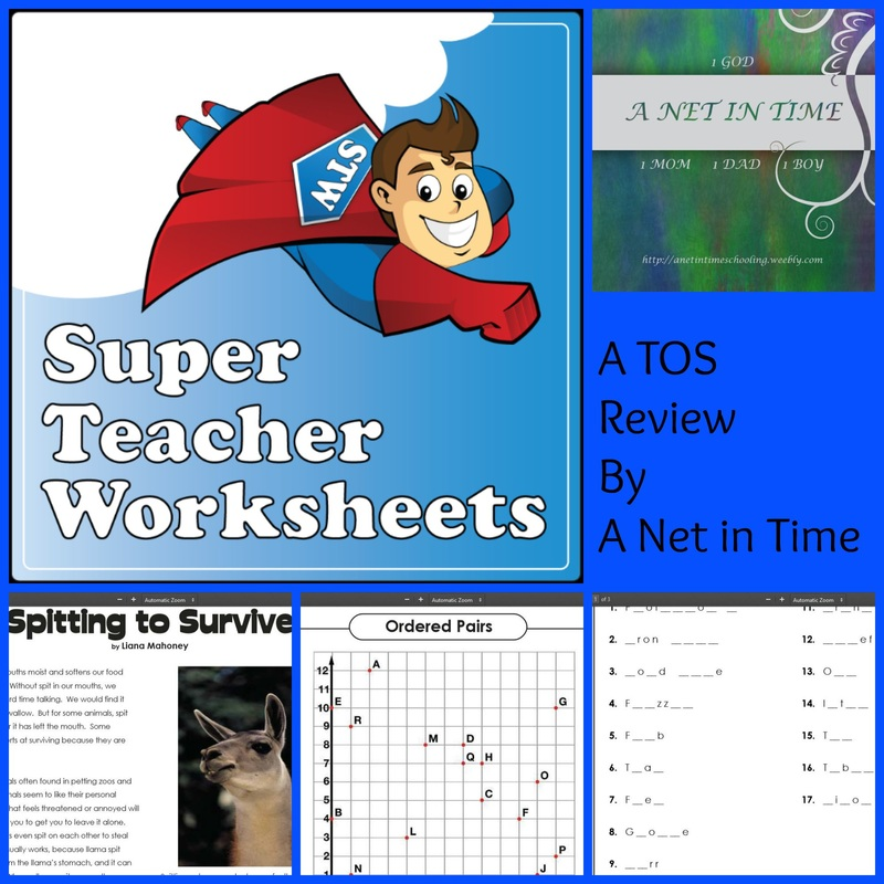 Review: Super Teacher Worksheets - A Net In Time Schooling